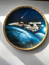 Star Trek- Triple Nacelled Uss Enterprise Plate Hamilton Collection W/Coa #3060b