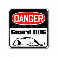 Danger Guard Dog Funny Safety Sign Sticker