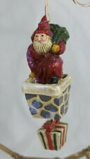 Pam P schifferl Midwest Cannon Falls Santa Chimney Present Christmas Ornament