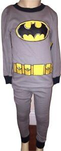 Boys Batman 2 Piece Long Sleeve Gray Pajama Set