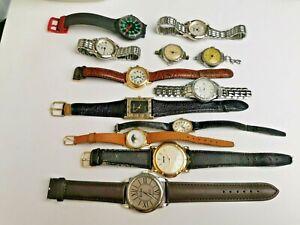 Job Lot of Vintage Quartz Watches, Ladies / Mens for Spares / Repair