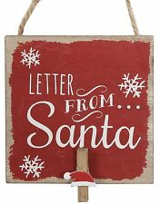Traditional Christmas Letter From Santa Claus Peg Holder