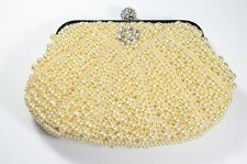Pearl Shell Shaped Clutch Eggshell New