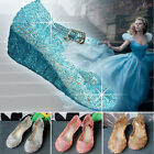 New Summer Girls Kids Princess Cosplay Dress Up Party Fancy Sandals Jelly Shoes