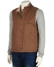 Wolverine - Mens XXL - NWT - Brown Cotton Canvas Sherpa Fleece Lined Vest Jacket