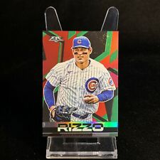 2021 Topps Fire Anthony Rizzo Red Flame Foil Parallel #21 Chicago Cubs