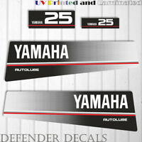 Yamaha 25 HP AUTOLUBE outboard engine decal sticker Set Kit reproduction 25HP
