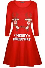 Womens Ladies Pudding Cup Cakes Boobs Funny Novelty Christmas Swing Mini Dress