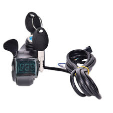Bikes Finger Thumb Throttle With Power Switch LCD Display Switch Handlebar G  kE