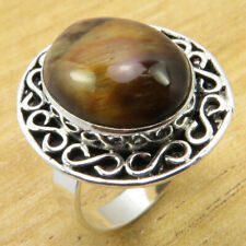 Tiger's Eye Fiery Gem ! 925 Silver Plated HANDCRAFTED Ring Size 9.25 BRAND NEW