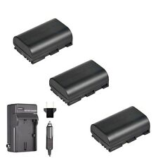 3x Extra Battery for LP-E6N and Charger Canon 5D Mark III Mark IV