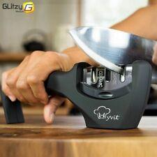 Knife Sharpener 3 Stages Professional Kitchen Sharpening Stone Grinder New
