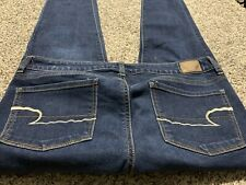 AE AMERICAN EAGLE OUTFITTERS SKINNY SUPER STRETCH WOMENS JEANS SIZE 10 L