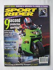SPORT RIDER Jun 1998, SUPERBIKE SHOOTOUT, SUZUKI TL1000R, HONDA VFR800FI, V.G.