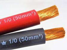 30' EXCELENE 1/0 AWG WELDING/BATTERY CABLE 15' RED 15' BLACK 600V MADE IN USA