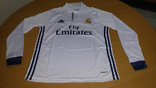 Real Madrid Football Long Sleeve Jersey Home Size L / Brand New.-