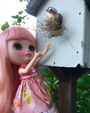 OOAK Custom Neo Blythe Doll - Sweetpea - Dogflower Designs- Pink Hair