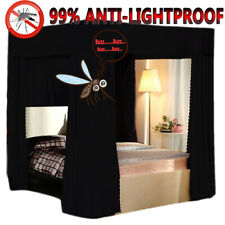 NEW 99% Anti-glar Lightproof Mosquito-proof Bed Canopy Mosquito Net Curtain+Post