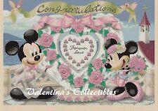 Cross Stitch MICKEY & MINNIE'S Wedding or Anniversary - COMPLETE KIT #10-19