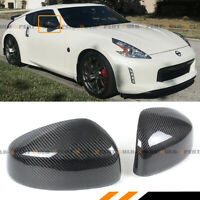 FOR 2009-2019 NISSAN 370Z Z34 CARBON FIBER SIDE VIEW MIRROR COVERS CAP OVERLAY