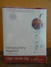 Introductory Algebra Math Textbook & CD Lecture Instructors Ed. Elayn Martin-Gay