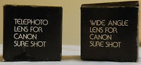 Set of 2 - Telephoto and Wide Angle Lens Canon Sure Shot, Original Cases New