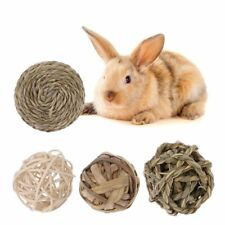 4Pcs Pet Animal Activity Play Chew Natural Ball Toys for Rabbits Guinea Pigs