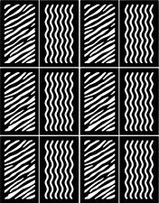 Strips Nail Art Vinyl Stencil Guide Sticker Manicure Hollow Template