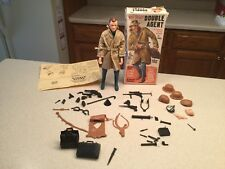 Vintage Louis Marx 1960's Mike Hazard Double Agent Box Figure Accessories Used