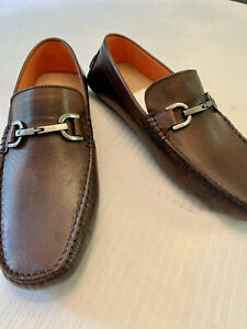 DONALD PLINER:MADE IN BRAZIL 11 COGNAC LEATHER LOAFERS/DRIVERS MSRP: $195 NWT