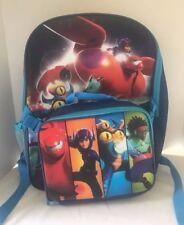 Big Hero 6 Backpack Lunch Box Set Red School Bag Black Tote 16 Heroes