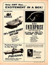 1967 MAN FORM U.N.C.L.E. SPY CAR  / STAR TREK / PIRANHA ~ ORIGINAL AMT PRINT AD