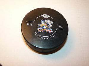 Detroit Red Wings AHL Hockey Team GRAND RAPIDS GRIFFINS Official 2013 Game Puck
