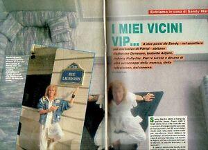 MA91-Clipping-ritaglio del 1987 Sandy Marton ...i miei vicini vip...---2