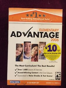 Encore Elementary Advantage 2006 8 CD Rom Set Grades 1-5 New Ships Tomorrow