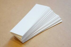 """Blank bookmarks 2"""" x 6"""" (50) thick white 100lb bristol paper bookmarks"""