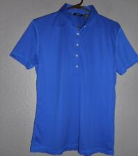 ABACUS Lightweight Polyester BLUE Short Sleeve Golf Polo Shirt sz XL  NWT