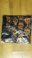 Skull Design Scarf Navy Blue / Orange *NEW *