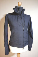 Superdry Japan The Windcheater Jacket Ladies Size M Grey Thumbhole Cuffs