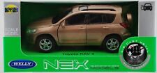 WELLY TOYOTA RAV 4 GOLD 1:34 DIE CAST METAL MODEL NEW IN BOX