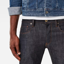 Gstar 3301 Straight Rake Denim Raw Denim Mens Jeans Size W32 L32 *REF6