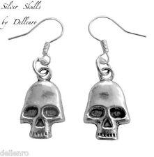 ✫ Silver Teschi ✫ SILVER PLATED in Oro Pendenti Goth Punk Halloween