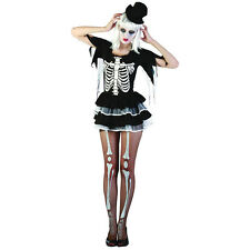 WOMEN BLACK #TUTU SKELETON DRESS FOR HALLOWEEN PARTY ADULT ONE SIZE COSTUME