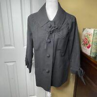 Kate Spade Cape May Black Willow Coat XL NWT
