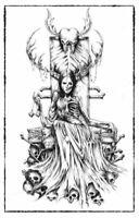 Hel Greek Mythology Zeus Creature Art Dark Scary Creepy Artwork Poster 11x17