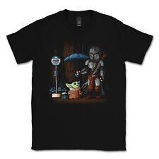 Brand New The Mandalorian Yoda Funny Star Wars T Shirt Adult Men Size M in Black