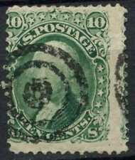 USA 1861 SG#64, 10c Green Washington Used #E2424