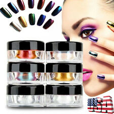 12 Boxes Nail Glitter Powder Shinning Mirror Powder Makeup Art DIY Pigment US