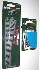 Kato N Gauge Unitrack R/H Electric Point Turnout 20-203 & Control Switch 24-840