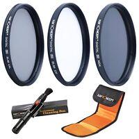 52 55 58 62 67 72 77mm Slim UV CPL ND4 Lens Filter Set Kit + Pen for Canon Nikon